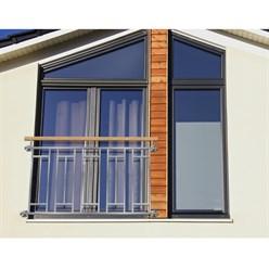 Balustrade balcon style française 156x90 cm barrière fenêtre acier inoxydable