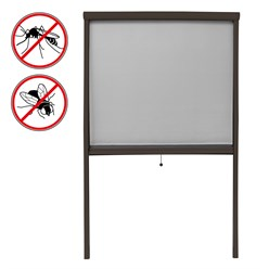 Insektenschutzrollo Alu 100x160cm braun