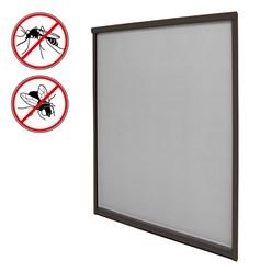 Insektenschutzrollo für Fenster 130x160cm Braun