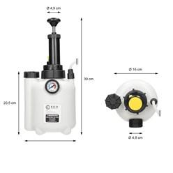 Bremsenentlüftungsgerät mit Auffangflasche und E20 Adapter