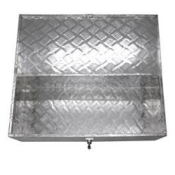 Aluminium Werkzeugkasten, 76,5 x 33,5 x 24,5 cm, 58 Liter, abschließbar