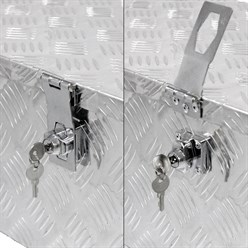 Coffre de rangement aluminium 765x335x245mm boîte à outils caisse de transport