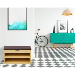 Banc de chaussures armoire étagère 60 x 30 x 43 cm organisateur en bois brun
