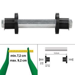 Achse für Schubkarrenrad, 19.7x128 mm, aus Stahl
