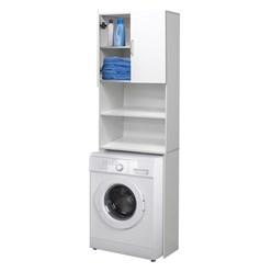 Armário branco da máquina de lavar roupa