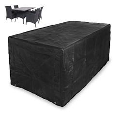 Abdeckung Gartentisch und Stühle schwarz