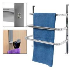 Handtuchhalter Tür in Einzelteilen mit Montagematerial