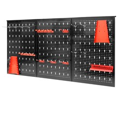 Dreiteilige Werkzeuglochwand 120 x 60 x 2,1 cm aus Metall
