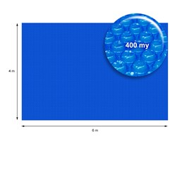 Pool Solarfolie blau, 6x4 m, 400µm, aus PE-Folie mit Luftkammern