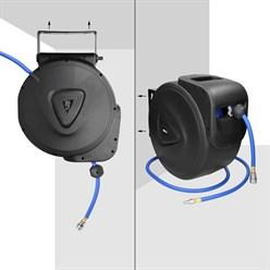 Automatik Druckluft Schlautrommel 30 m + 2m Zuleitung für Wandmontage, 180° Schwenkhalterung