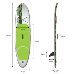 Surfboard Stand Up Paddle Board Grün