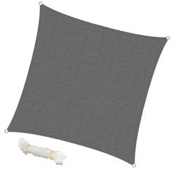 Sonnensegel Quadrat 3,6 x 3,6 m Grau