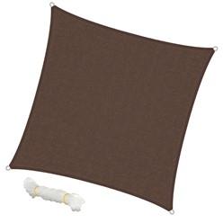 Sonnensegel Quadrat 3,6 x 3,6 m Braun