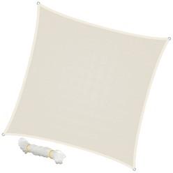 Sonnensegel Quadrat 5 x 5 m Creme