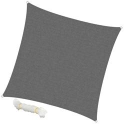 Sonnensegel Quadrat 5 x 5 m Grau