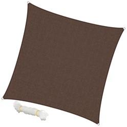 Sonnensegel Quadrat 5 x 5 m Braun
