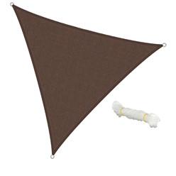Sonnensegel Dreieck 3,6 x 3,6 x 3,6 m Braun