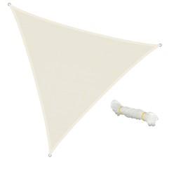 Sonnensegel Dreieck 5 x 5 x 5 m Creme