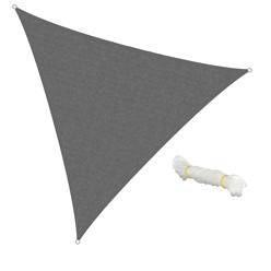 Sonnensegel Dreieck 5 x 5 x 5 m Grau