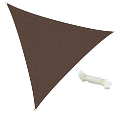 Sonnensegel Dreieck 5 x 5 x 5 m Braun