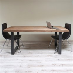 2er Set Tischbeine 40x43 cm, Dunkelgrau, aus pulverbeschichtetem Stahl