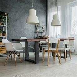 Tischbeine Set Stahl Grau 30 x 43 cm