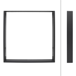 Tischbeine Set Stahl Grau 80 x 72 cm