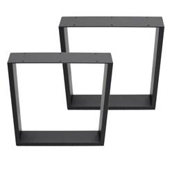 2er Set Tischbeine dunkelgrau, 40x43 cm, aus pulverbeschichtetem Stahl