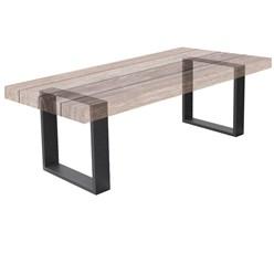 2er Set Tischbeine 30x43 cm, Dunkelgrau, aus pulverbeschichtetem Stahl