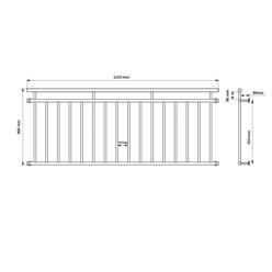 Französischer Balkon 90 x 225 cm Schwarz