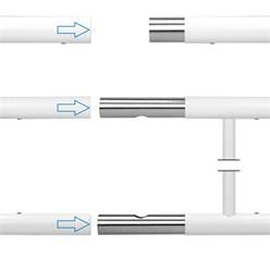 Französischer Balkon 90 x 225 cm Weiß