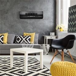 Appareil chauffage mural 60 W couleur noir télécommande ventilateur électrique