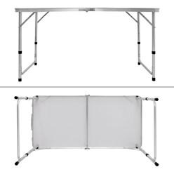 Campingtisch Weiß 4 x Stühle