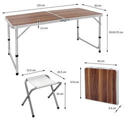 Campingtisch Braun 4 x Stühle