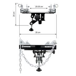Adapter für Getriebeheber 500 kg