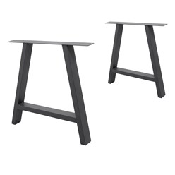 2 x Pieds de table forme A 70x72cm industriels acier gris support cadre meuble