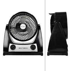 Ventilator 40 W 3 Stufen Schwarz