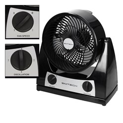 Ventilator 40W 3 Stufen Schwarz