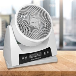 Ventilator 40W 3 Stufen Digitaldisplay Weiß