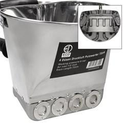 Druckluft Putzwerfer 72 cm inkl. 4 Düsen, aus Edelstahl mit Aluminium-Legierung, bis 90 PSI