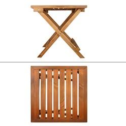 Gartentisch aus massives Kiefernholz, 46x46x46 cm, klappbar