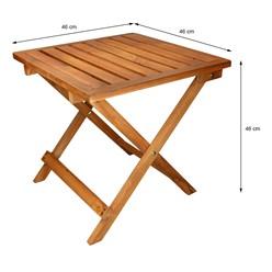 Gartentisch aus Kiefernholz 46x46x46 cm