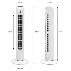 """Säulenventilator 45W 31"""" Weiß Fernbedienung 3Stf"""