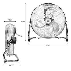 """Bodenventilator 90W 18"""" verchromt 3 Stufen CE/GS"""