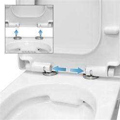 Spülrandlöses Wand Hänge WC aus Keramik Soft-Close Weiß