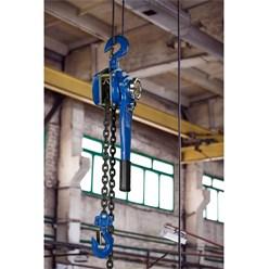 Flaschenzug mit Handhebel 3000 kg, 1,5 m, aus Stahl, Gummierter Handgriff, inkl. Kette
