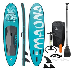 Stand Up Paddle Surfboard 308 x 76 x 10 cm Turquoise Maona