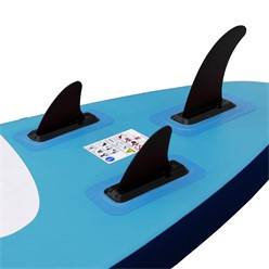 Aufblasbares Stand Up Paddle Board mit Kajak Sitz, 305 x 78 x 15 cm, Blau, inkl. Pumpe und Tragetasche, aus PVC und EVA