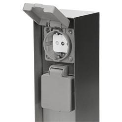 2-Fach Außensteckdose Edelstahl IP44
