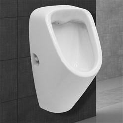 Urinal mit Zulauf von hinten aus Keramik Weiß